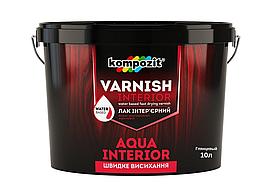 Акриловый интерьерный лак Kompozit Aqua Interior 10л (глянец)