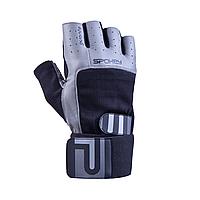 Мужские перчатки для фитнеса Spokey Guanto II (original), спортивные атлетические тренировочные, фото 1