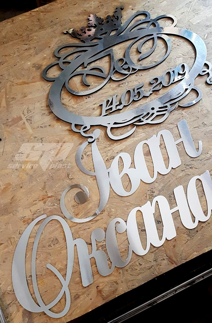 Зеркальные надписи, фамилии, имена