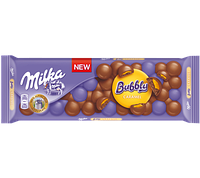 Шоколадная плитка Milka Bubbly Caramel 250 гр польского производства