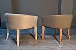 Дизайнерский стул с низкой спинкой белый, фото 7