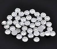 Стразы (50 штук) серебро Пластик 5 мм