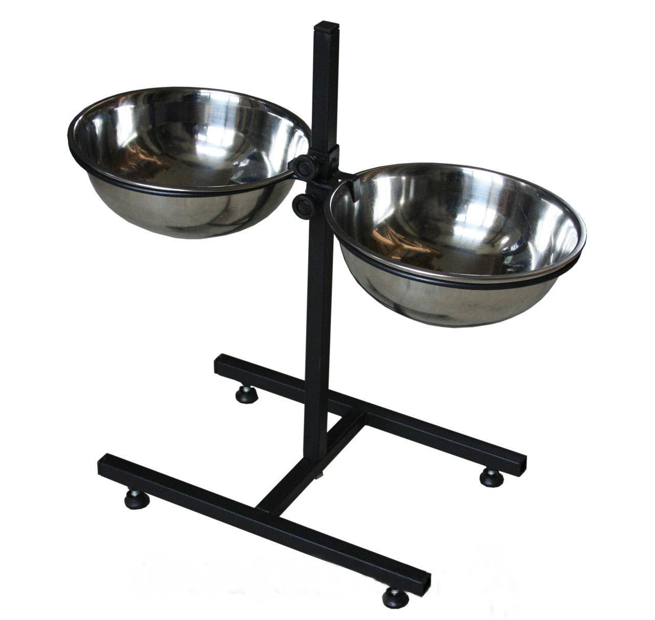 Кормушка для собак (регулируемый штатив 30 см, миски по 1л)