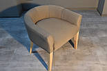 Дизайнерский стул с низкой спинкой ясень, фото 2