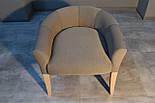 Дизайнерский стул с низкой спинкой ясень, фото 3