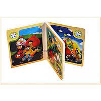 """Оптом и в розницу в Украине деревянная книга-пазл """"Angry Birds"""" 5302"""