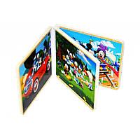 Оптом и в розницу в Украине деревянная книга-пазл Микки Маус 5288