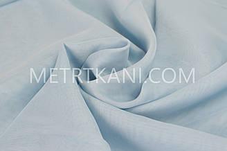 Тюль вуаль голубая  300 см №128721-4