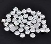 Стразы (50 штук) серебро Пластик 5 мм (товар при заказе от 200 грн)