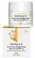 Осветляющий дневной крем Even Tone с солнцезащитным фактором SPF15 и витамином С, 56 г, Derma E (США)