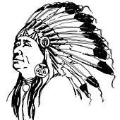Магнит Индеец (черно-белый) 020316-227