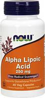 Alpha Lipoic Acid 250 мг NOW, 60 капсул