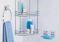 Полка угловая для ванной комнаты