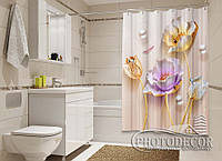 "Фото Шторка для ванной ""3D Маки"""