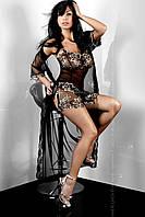 Элегантный халатик с вышивкой Hera Dressing Gown, женское эротическое белье Livia Corsetti