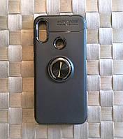 Чехол, бампер с кольцом на телефон Xiaomi RedMi Note 7. Black