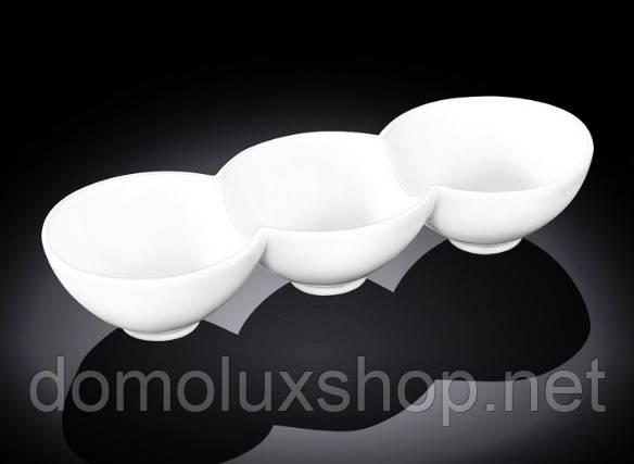 Wilmax Емкость для закусок 3-секционная 26*9,5*5 см (WL-992601)