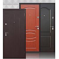 Двері вхідні металеві СтройГОСТ 65 мм, мідний антик