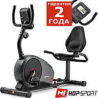 Стильний велотренажер Hop-Sport HS-040L Root Gray/Red, фото 1