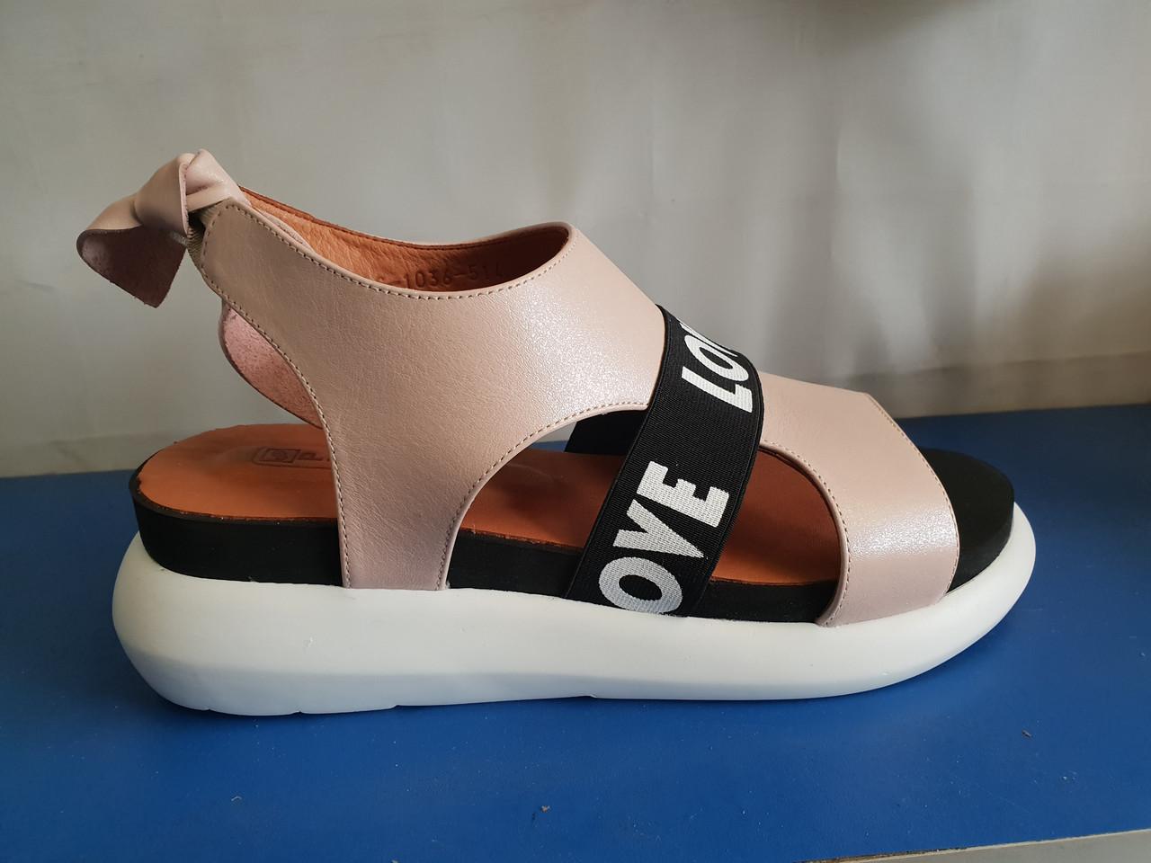 Стильные кожаные сандалии Phany