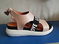 Стильные кожаные сандалии Phany, фото 1