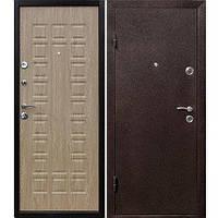 Двері вхідні металеві ЙОШКАР 65 мм, мідний антик