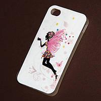 Чехол Цветочная фея для Iphone 4/4S из высококачественного силикона