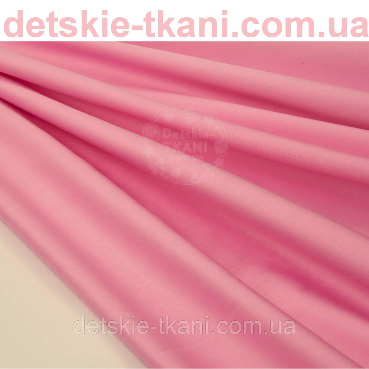 Лоскут сатина премиум ярко-розового цвета №1073-10