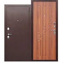 Двері вхідні металеві GARDA 60 мм, мідний антик