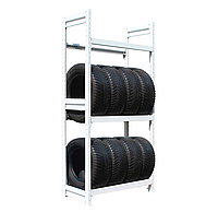 Стеллаж металлический для шин в сто, гараж, магазин