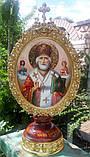 Элитная писаная икона Святого Николая Чудотворца (Николай Чудотворец), фото 2