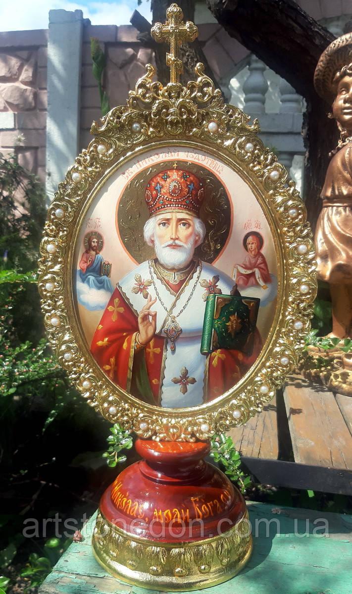 Элитная писаная икона Святого Николая Чудотворца (Николай Чудотворец)