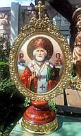 Элитная писаная икона Святого Николая Чудотворца (Николай Чудотворец), фото 1