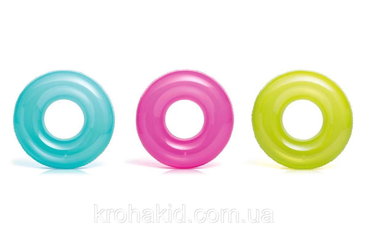 Круг Intex  59260 NP  однотонный, 3 цвета, диаметром 76см, от 8 лет