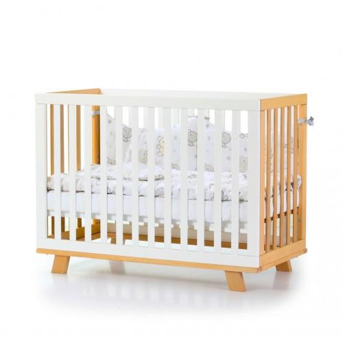 Детская кроватка Верес Соня ЛД 1 Манхэттен цвет бело-буковый