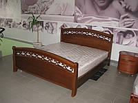 Кровать двуспальная дуб, 1800 мм
