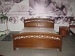 Кровать двуспальная дуб, 1800 мм, фото 2