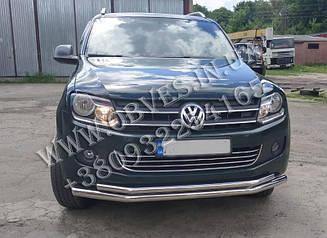 Захист переднього бампера Volkswagen Amarok (подвійна) d76/60