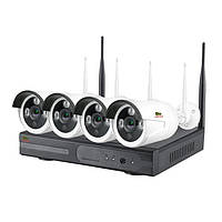 Комплект WiFi IP видеонаблюдения Партизан Outdoor Wireless Kit 1MP 4xIP v1.0