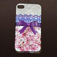 Чехол Фиолетовый бант для Iphone 4/4S из высококачественного силикона