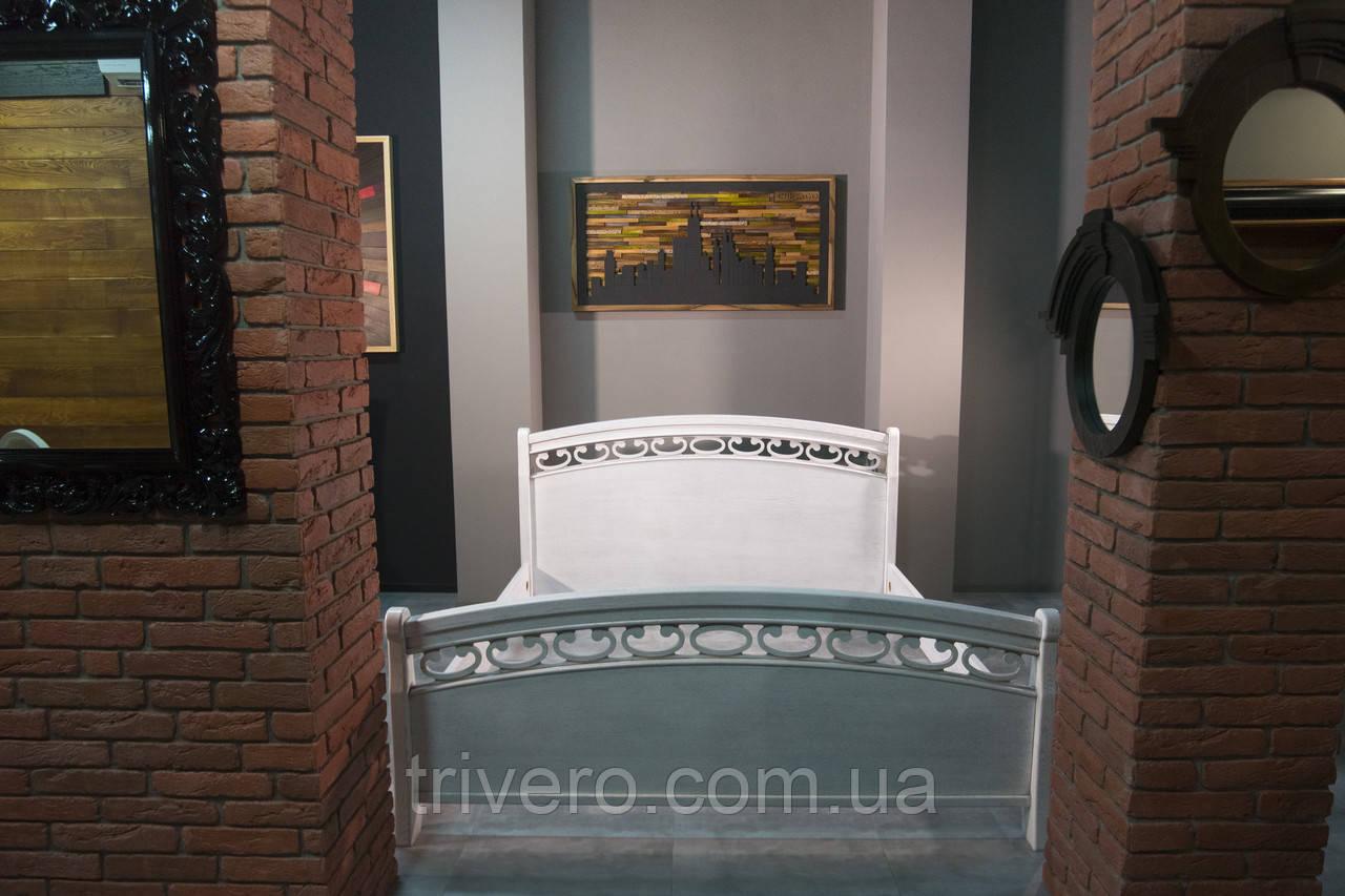 Кровать двуспальная из массива дуба, 1800 мм