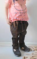Штанишки с заниженной матней и карманами. Унисекс. Размер 104 см, фото 1