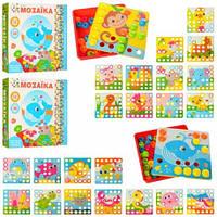 Мозаика для малышей, 12 картинок, 35 фишек, 2 вида, 66838-48
