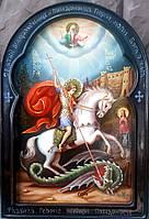 Икона рукописная Святой Георгий Победоносец (вариант 3)