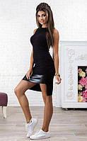 Летнее женское облегающее платье черного цвета