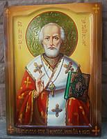 Икона Николай Чудотворец Мерликийский писаная большая