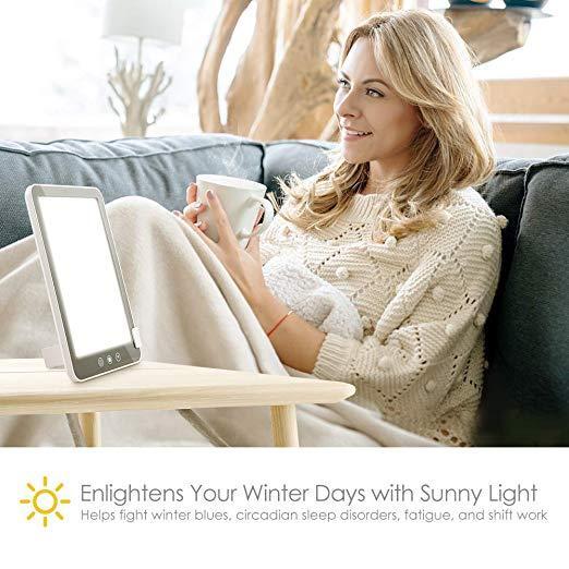 Лампа для светотерапии белый цвет 3 уровня