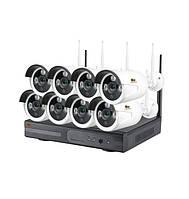 Комплект WiFi IP видеонаблюдения Партизан Outdoor Wireless Kit 1MP 8xIP v1.0