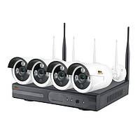 Комплект WiFi IP видеонаблюдения Партизан Outdoor Wireless Kit 2MP 4xIP v1.0, фото 1