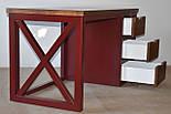 Стол офисный из массива дерева в стиле лофт, фото 3